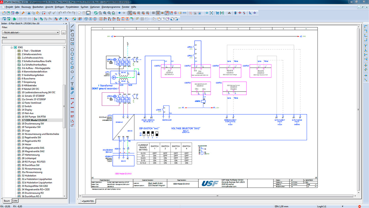 Electrical Planning And Construction Usf Water Purification An Plan In The Field Of Pharmaceutical Systems Audit Trail Is Standard Along With Gamp Qualification Electronic Signatures Accordance Cfr 21 Part 11
